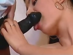 Strapon one fucks blonde in bedroom
